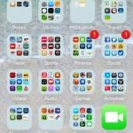 The new main screen on iOS 7.