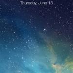 The new lock screen on iOS7.